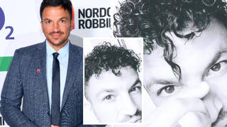 Peter Andre looks unrecognisable as he reveals curly hair on social media.