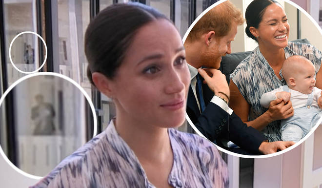 Royal fans distracted during Meghan Markle interview as they spot sweet moment between Prince Harry and Archie