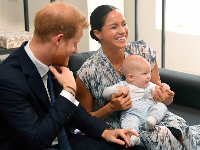 Following the royal couple's meeting with Archbishop Desmond Tutu, Meghan went to speak to journalist Tom Bradby