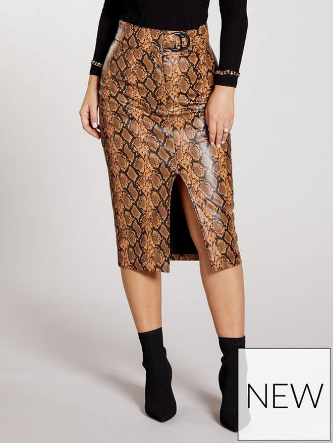 This snakeskin skirt would be great for a night out