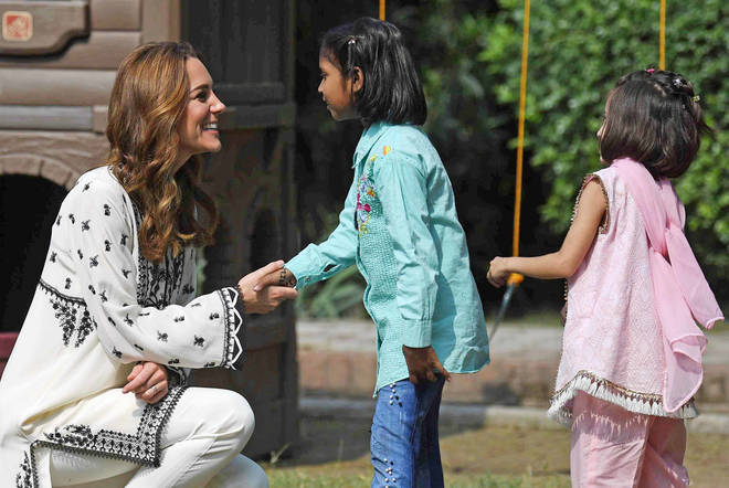 Kate Middleton is said to have asked to return to the Children's Village in Lahore