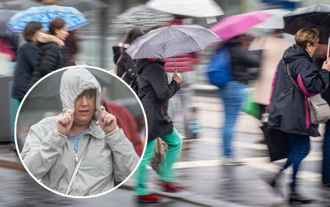 The UK will have some heavy rain this weekend