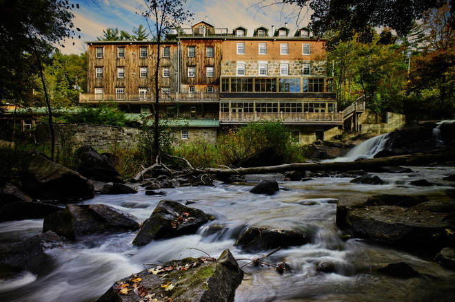 Wakefield Mill Inn is home to a stunning stream and waterfall in its backyard