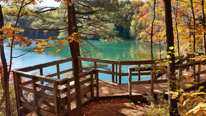 Pink Lake and Gatineau Park is a beautiful location for a hike