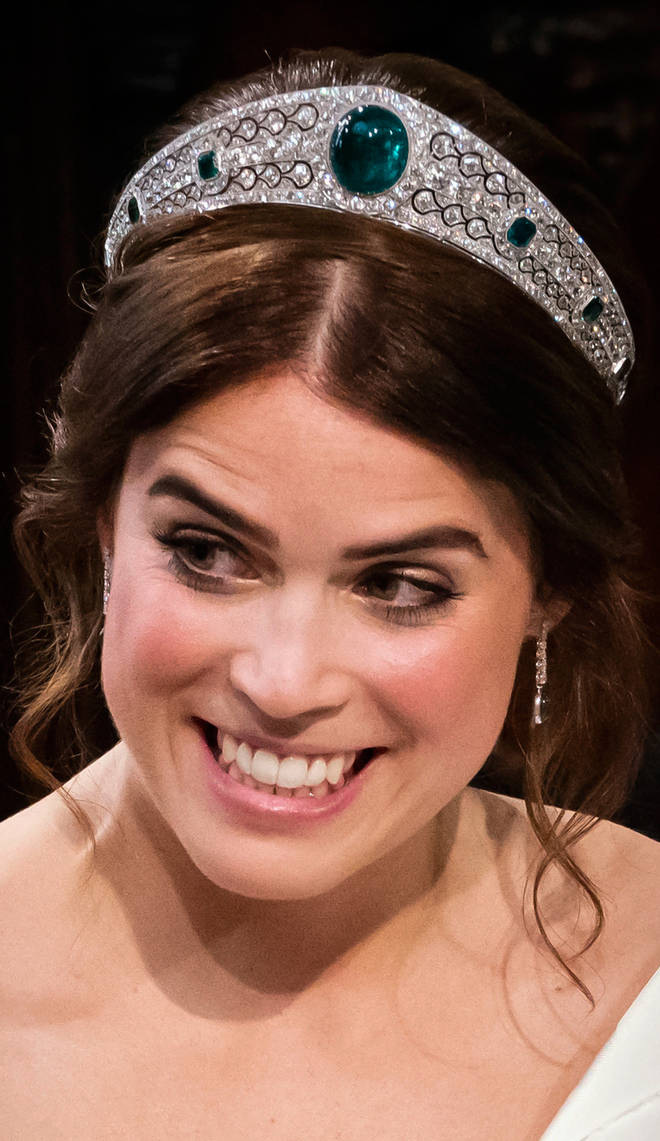 It was thought Eugenie would wear the York Tiara on her wedding day, which she did not