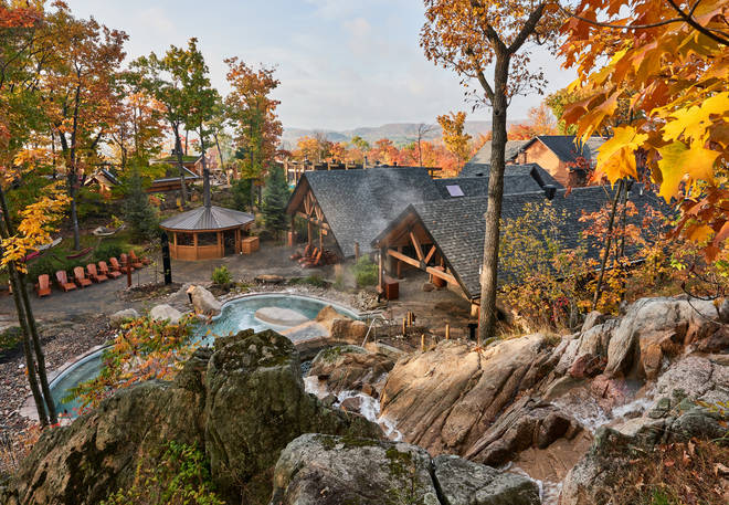 Visitors to the spa can unwind in a beautiful outdoor setting
