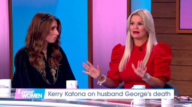 Kerry Katona opened up about George's death on Loose Women earlier today