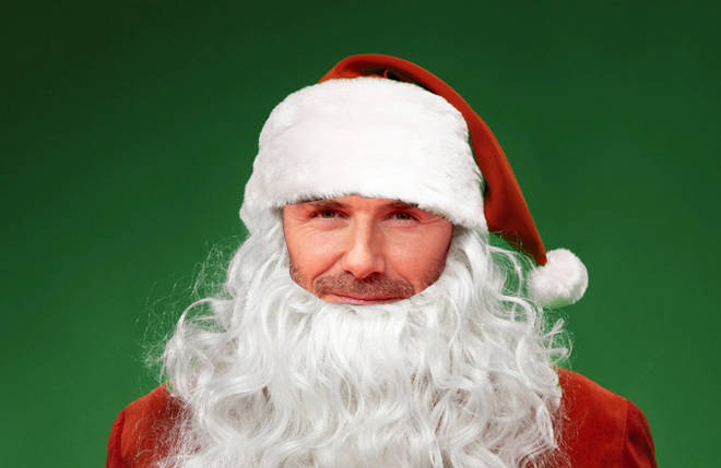 Who's the celeb under the Santa costume?