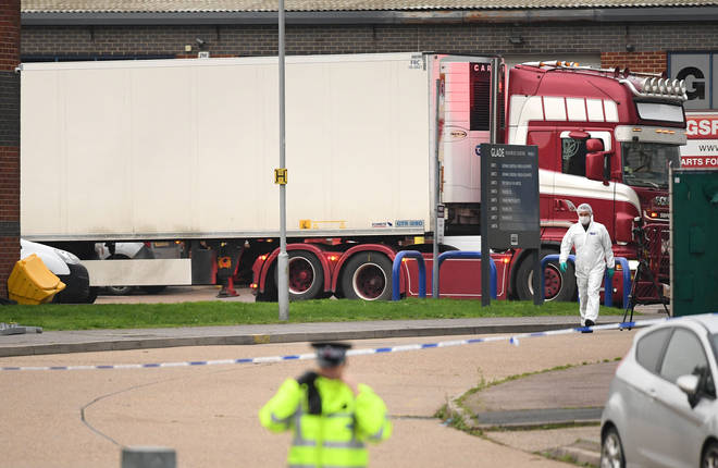 A lorry was found in Essex with 39 dead bodies inside