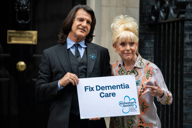 Barbara Windsor is being supported by her husband Scott