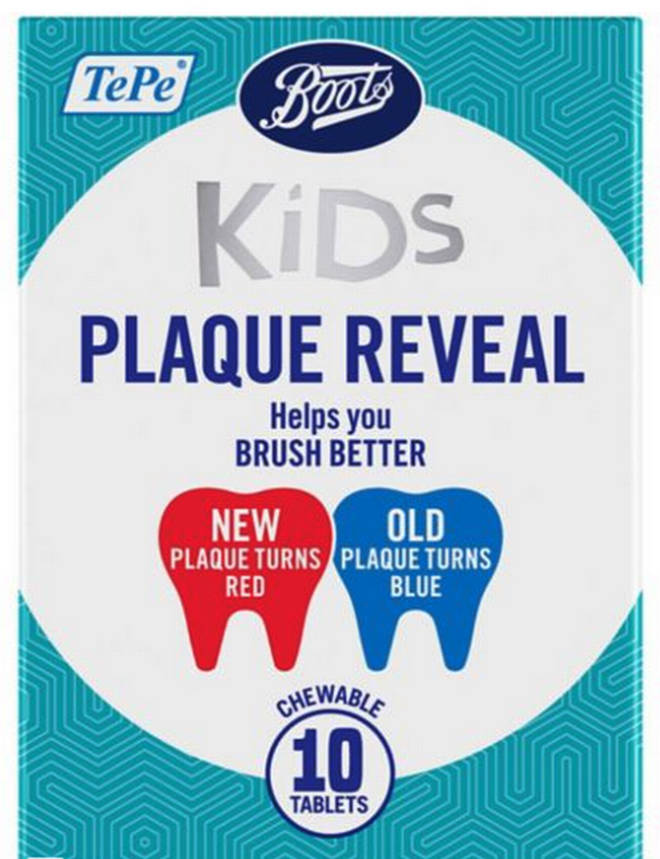 Boots is selling kids plaque reveal tablets