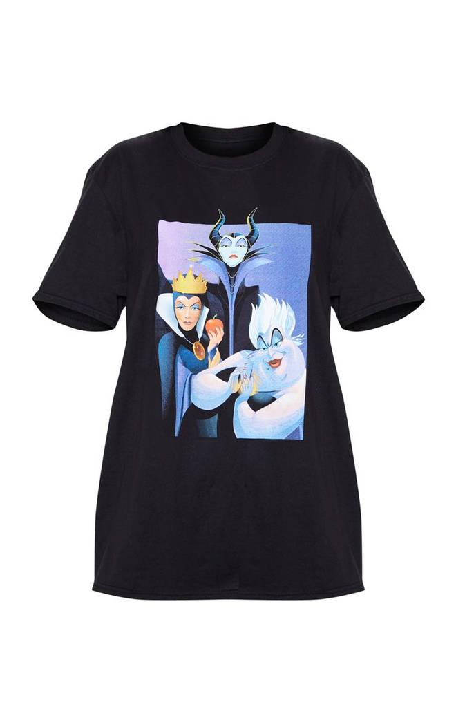 Black Disney Villains Oversized T-shirt