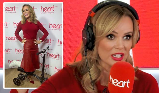 Heart Breakfast presenter Amanda Holden revealed the horrific details from the moment she broke her leg