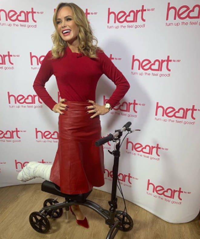 Amanda Holden is not using a scooter to help her get around