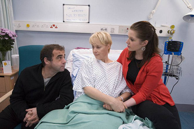 Sally battled cancer on-screen and off-screen