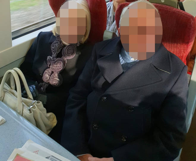 An older couple refused to move out of the pregnant woman's seat