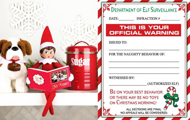 Parents go wild for free Elf on the Shelf letters which prevent children from misbehaving ahead of Christmas
