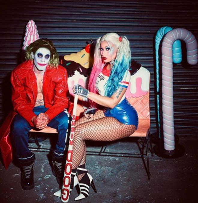Nicki Minaj dressed as Suicide Squad's Harley Quinn