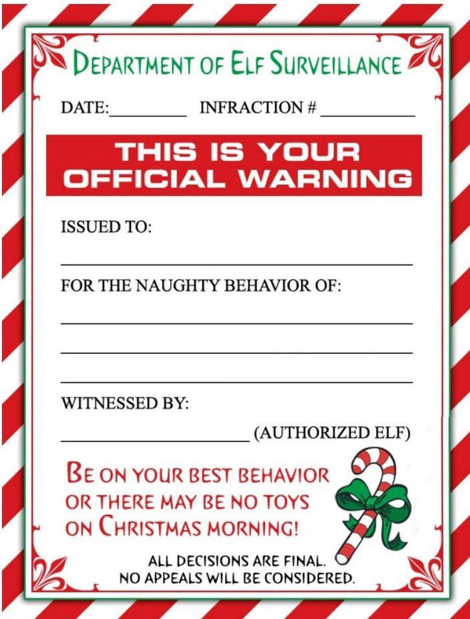 There's also a warning letter
