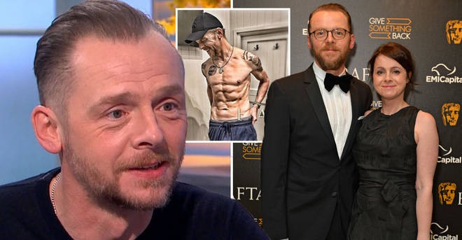 Simon Pegg has revealed his weight loss made his wife cry