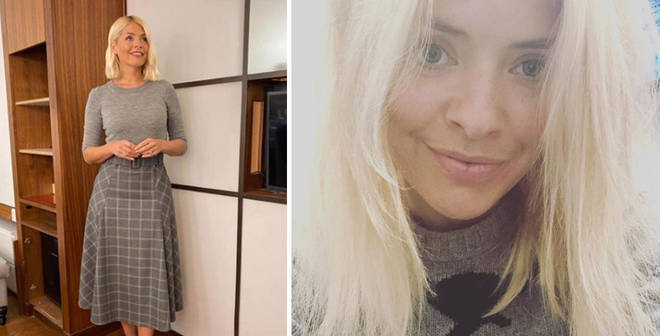 Holly Willoughby is in all grey today
