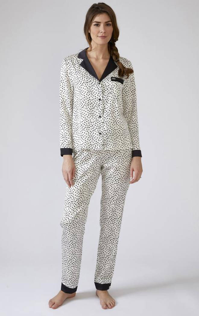 Womens Animal Spot Pyjama Set, Pretty You London