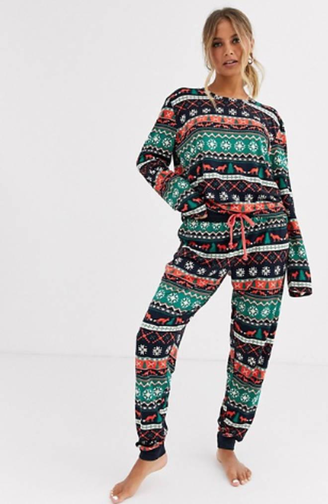 Chelsea Peers fairisle print long pyjama set, £35