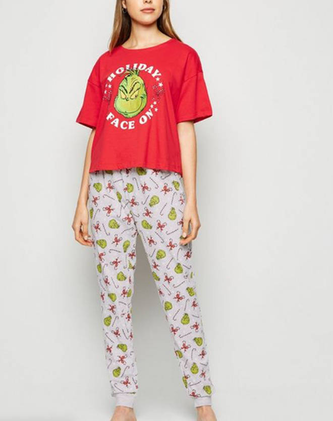 Red Grinch Christmas Pyjama Set, New Look