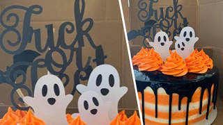 Halloween cake topper leaves Internet in hysterics as it appears to spell something very rude