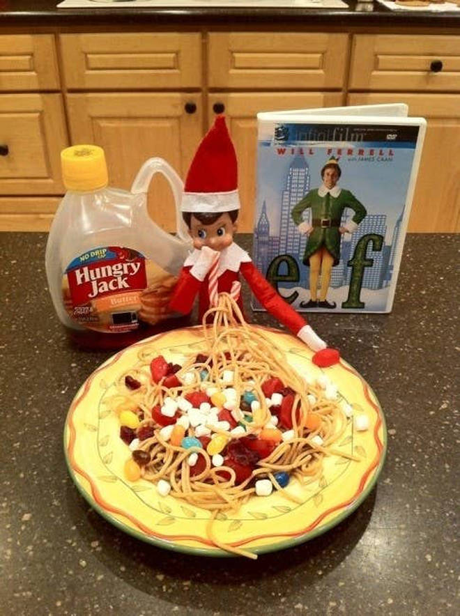 Buddy isn't the only Elf that loves sweets and spaghetti.