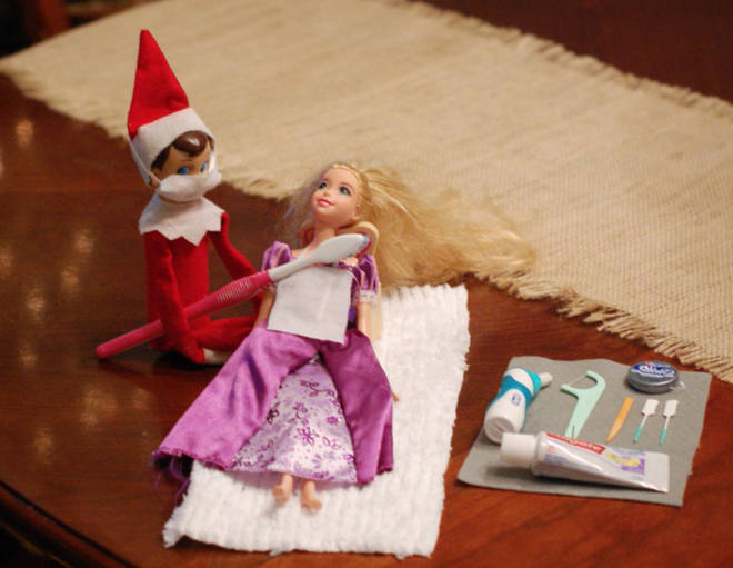 Barbie's due for her Christmas dental check-up.
