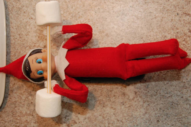 Because Elf needs his strength for wrapping those presents.