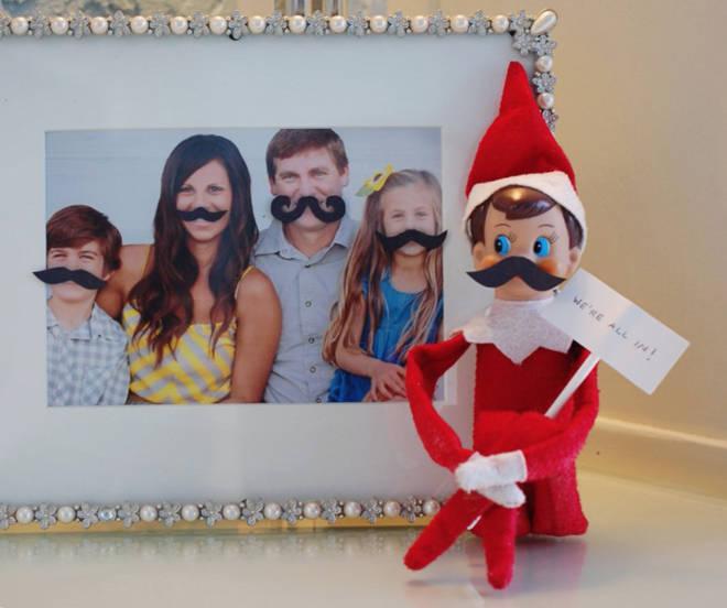 We're loving these fuzzy felt moustaches.