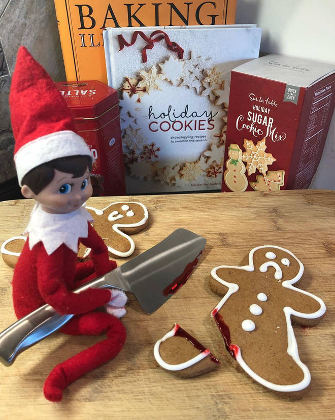 This bad Elf thinks it's Halloween not Christmas!