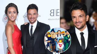 Peter Andre shared the adorable family picture to Instagram
