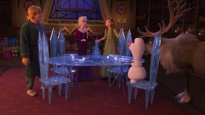 The advert contains never-before-seen animations of the Frozen cast