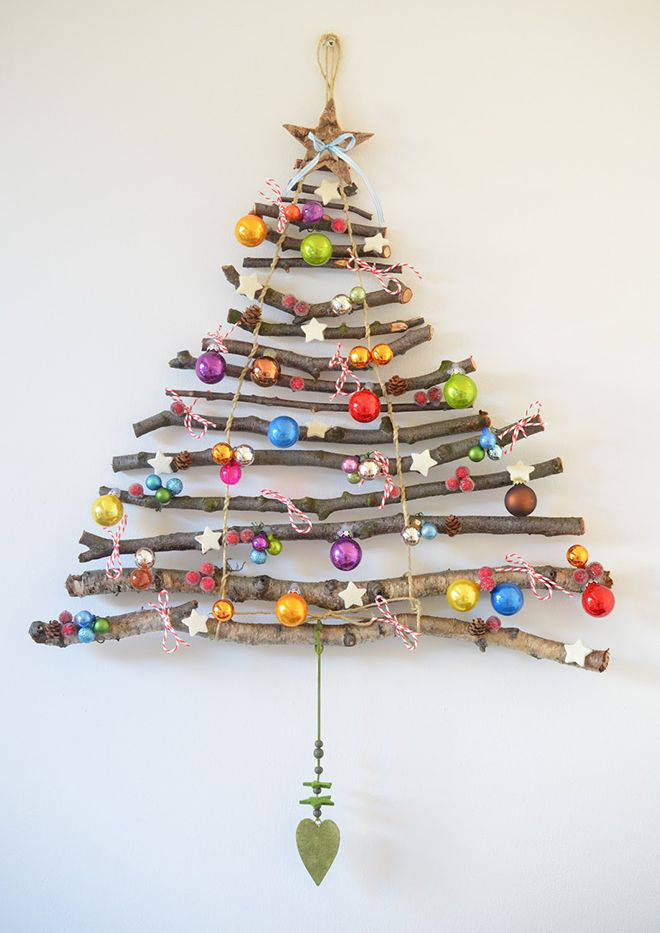 Go bright and colourful with a wooden wall tree.