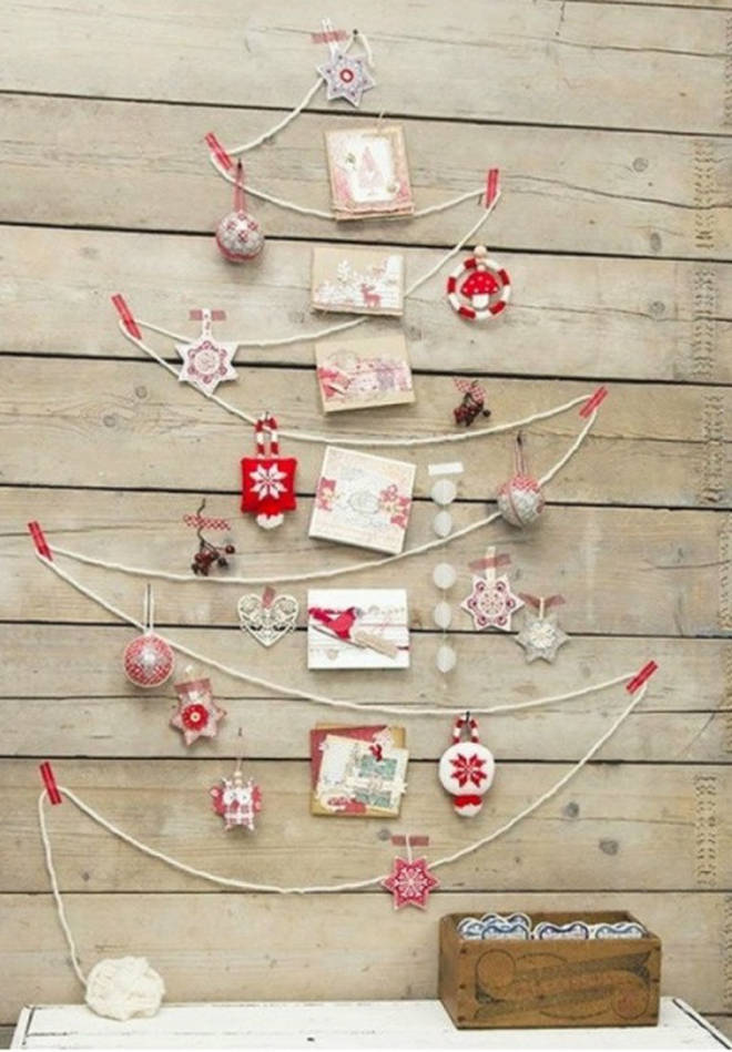 Twine and some fabric decorations create this merry option.