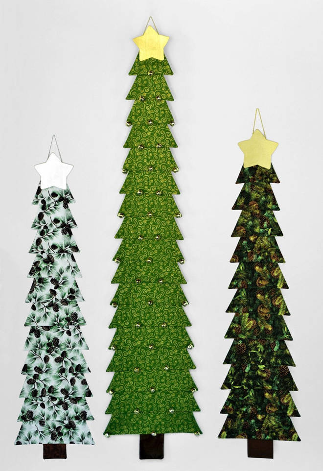 Stack these fabric patterns and sew some fir trees this Christmas.