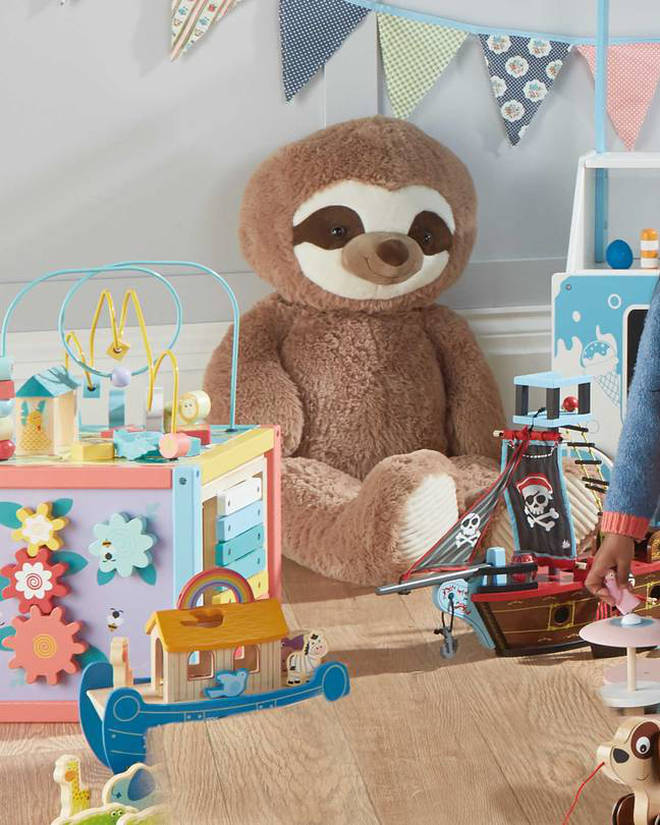 Aldi's supersized Giant Plush Brown Sloth costs £12.99.