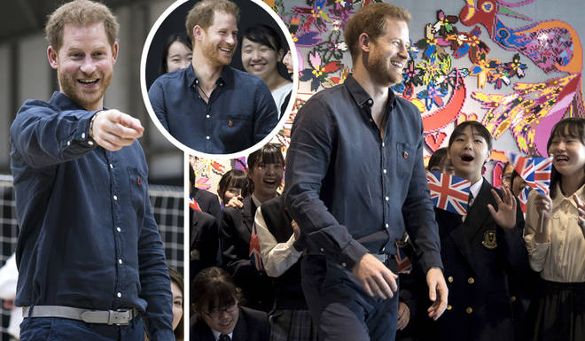 Prince Harry was called 'handsome' by the students