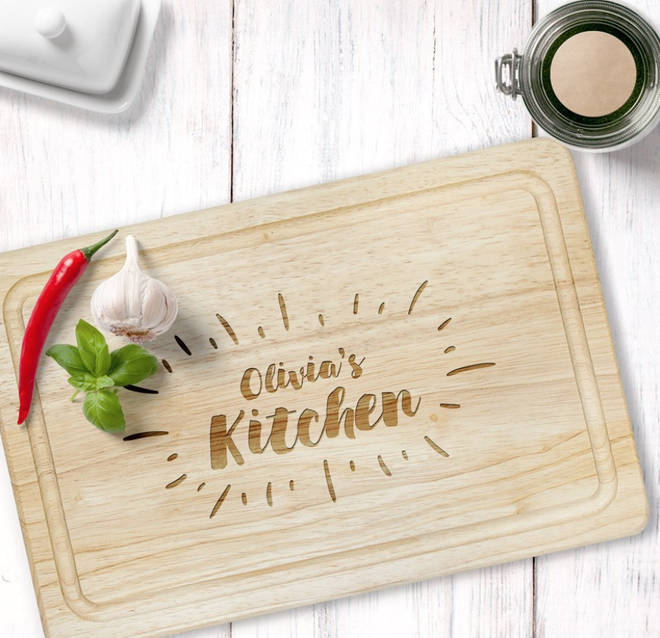 Personalised chopping board from PersonalisedGiftsShop.co.uk.