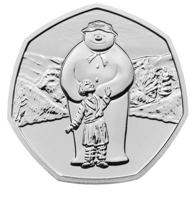 The first coin is thee Brilliant Uncirculated 50p which is the silver version of the illustration, and will set you back £10