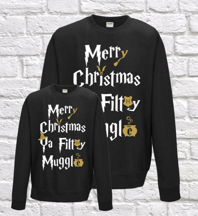 Merry Christmas Ya Filthy Muggle jumper from Etsy
