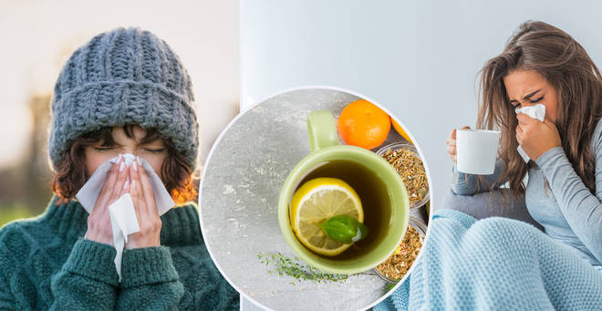 The best ways to help stave off colds this winter (stock images)