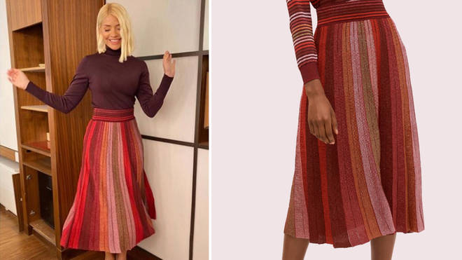 Holly Willoughby's skirt is from Kate Spade