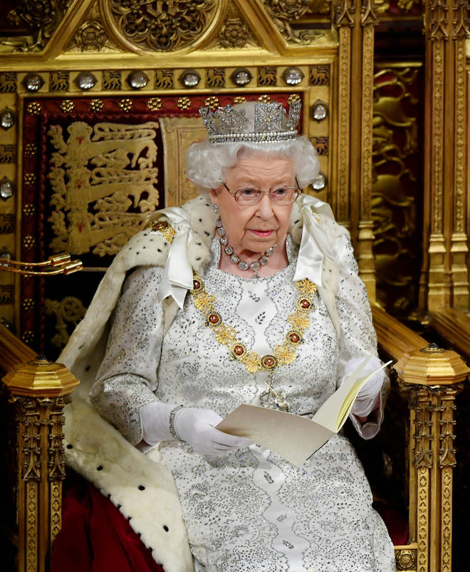 The Queen's state robes are believed to have fur on them