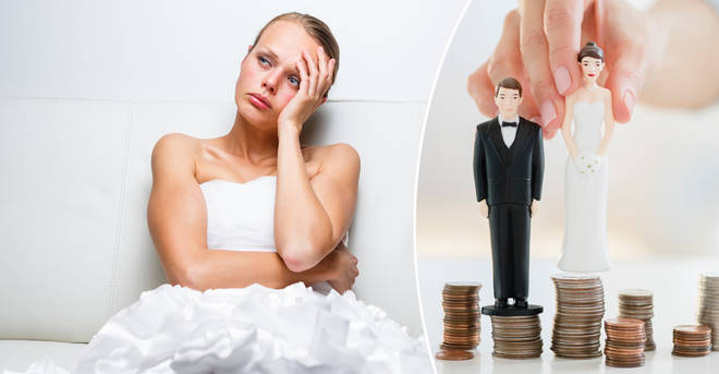 A bride has kept the money she was donated for her wedding