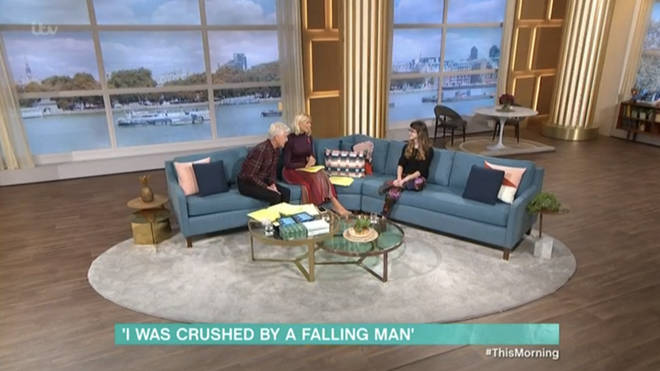 Grace joined Holly and Phil on the sofa