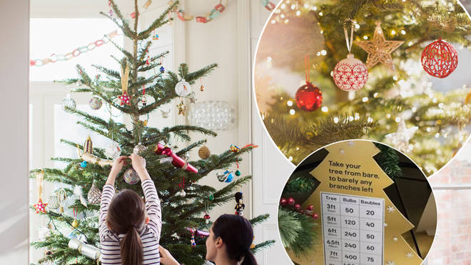 A Christmas tree guide has revealed the exact number of baubles you should be hanging